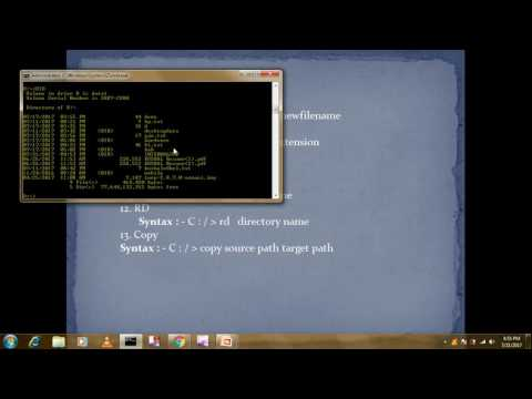 hOW TO USE MS Dos Commands/Internal Commands