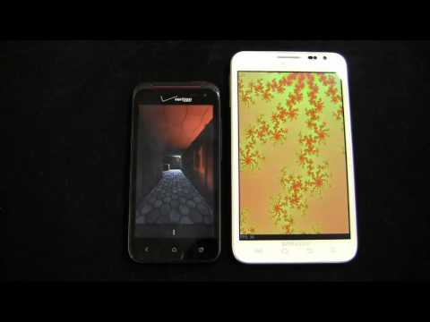 HTC DROID Incredible 4G LTE vs. Samsung Galaxy Note Dogfight Part 2