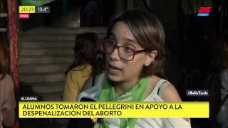 Alumnos tomaron el Pellegrini en apoyo a la despenalizacion del aborto
