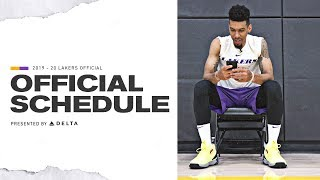 2019-20 Lakers Schedule Released   Lakers