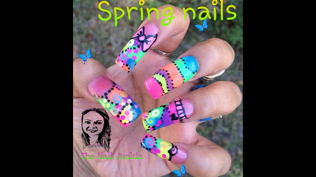 Spring nails Acrylic nails Ezflow review