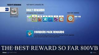Fortnite : Daily Login Rewards days (71 -140). Finally a Reward worth going for..