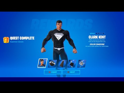 How to Unlock Superman Shadow Style in Fortnite (All Superman Challenges)