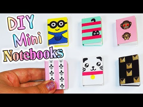 DIY Miniature Notebooks (Emoji, Minion, Cats and more) Barbie Doll Hacks and Crafts