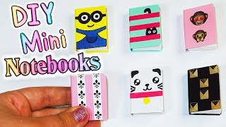 DIY Miniature Notebooks (Emoji, Minion, Cats and more) Doll Hacks and Crafts