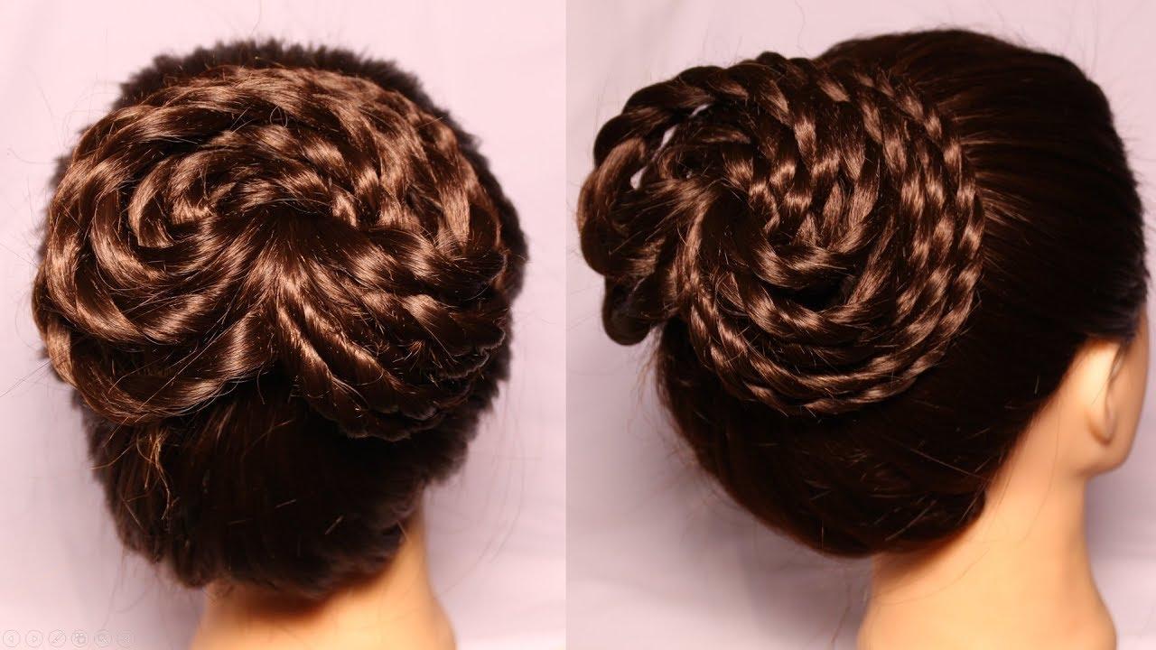 Bun Juda Hairstyle Short Hairstyles Hairstyle Hairstyles 2018 Hair Design