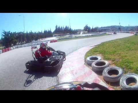 F1 Fans Kart Challenge Athens 2017 on board race3 reverse Spanogiannis