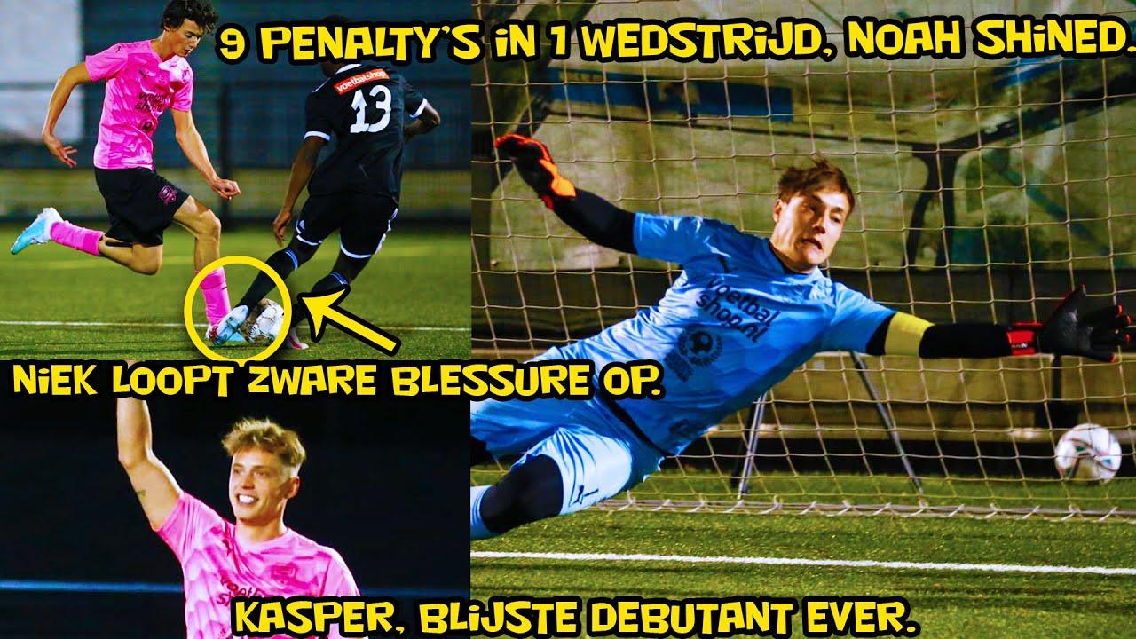 UNIEK! 9 penalty's in 1 wedstrijd, Noah shined, zware blessure Niek. Kasper, blijste debutant ever!