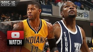 Kevin Durant vs Paul George MVP Duel Highlights (2016.03.19) Pacers vs Thunder - MUST Watch!