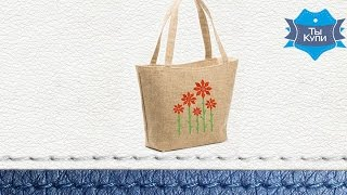 Женская сумка-корзина для отдыха «Цветы» купить в Украине - обзор