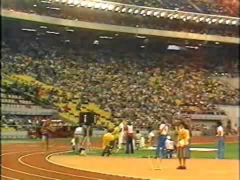 Bruce Jenner running the 1500M, the last of 10events