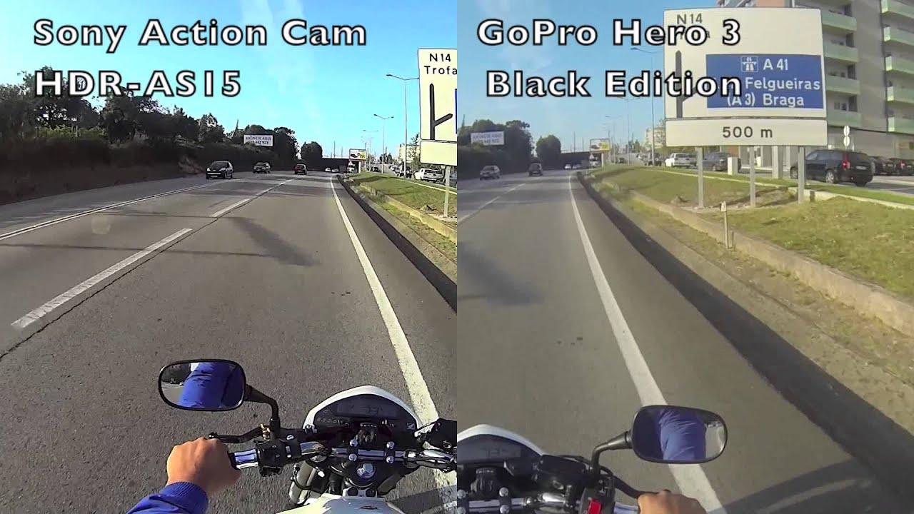 Camera Gopro Hero Vs Sony Action Cam sony action cam vs gopro hero 3 clg2013 hornet branca portugal youtube
