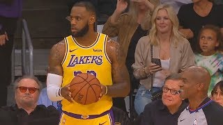 LeBron James Gets Disrespected By Lakers Announcer In Home Debut! Lakers vs Rockets