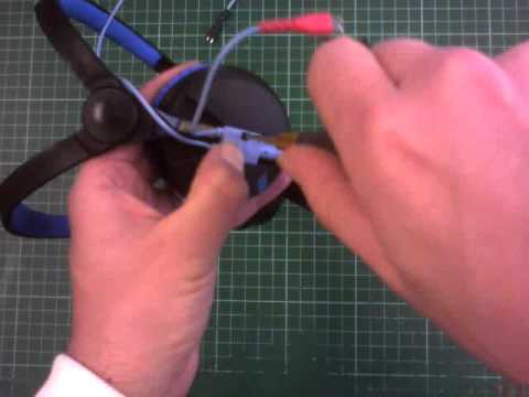How to replace the cable on a pair of Sennheiser HD-25 headphones Headphone Wiring Diagram on