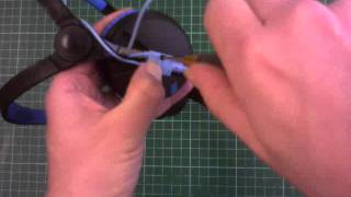 How to replace the cable on a pair of Sennheiser HD-25 headphones