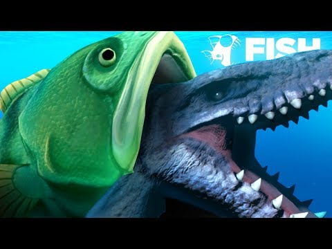 EATING THE MOSASAURUS WHOLE!!! - Fish Feed Grow