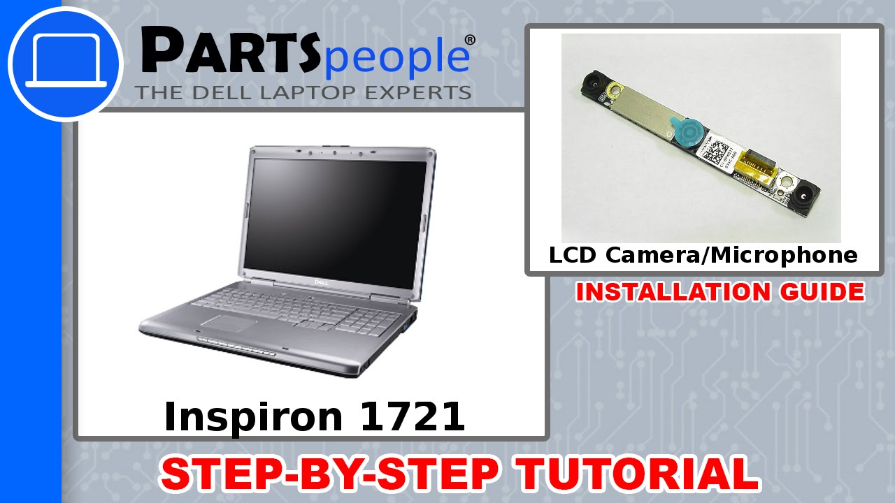 Dell Inspiron 1721 LCD Camera / Microphone Replacement Video Tutorial