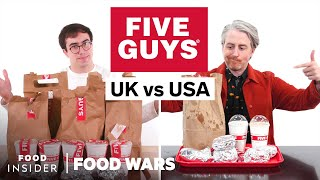 US vs UK Five Guys | Food Wars