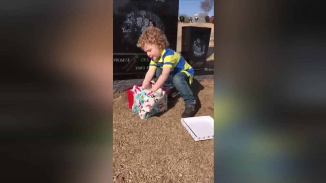 Watch 2-Year-Old Boy Run To Open Christmas Gift Left On Dad\'s ...