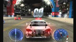 Juiced 2, Hot Import Nights. Demo Gameplay for Playstation 2 PS2, THQ 2007
