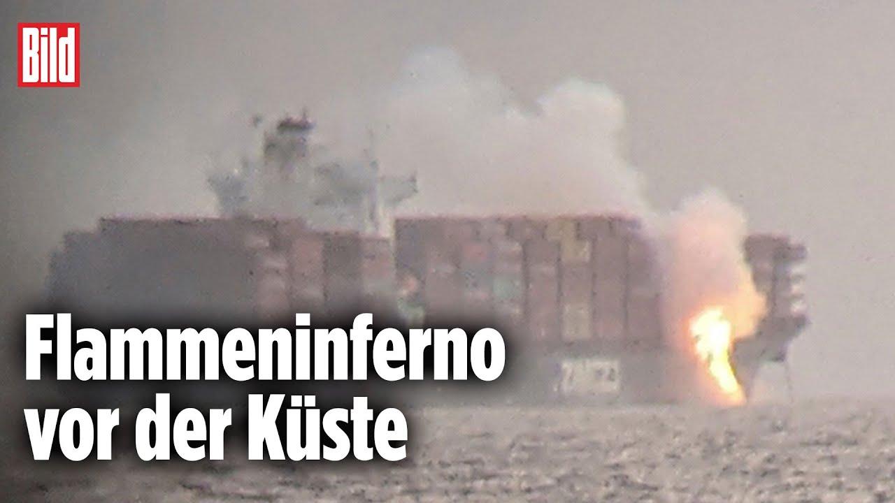 Download Brand im Hafen: Chemikalien auf Container-Schiff entfachen ein Feuer | Kanada