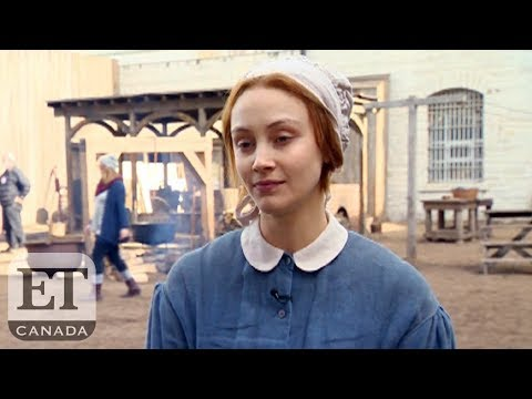 On The Set Of 'Alias Grace' With Sarah Gadon, Mary Harron. ET Canada