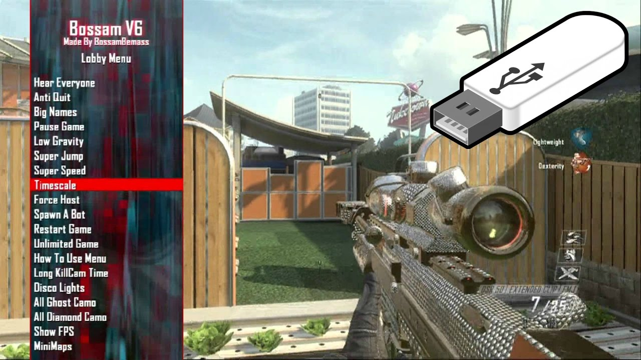 Black Ops 2: USB Mod Menu + TUTORIAL/DOWNLOAD/PROOF (No Jailbreak/JTAG)  [PS3/XBOX360]