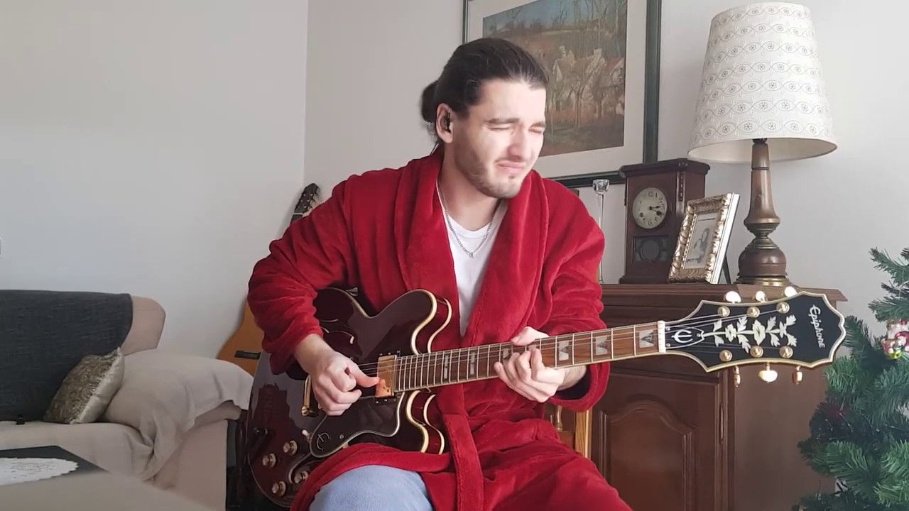 Red Robe Sessions Vol 1 Blues Guitar Jam With Epiphone Sheraton Ii Pro Wr Youtube