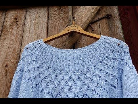Джемпер Роза Альберты //Alberta Rose #DropsDesign// Gazzal Baby Cotton