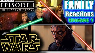 Star Wars Episode 1   The Phantom Menace   FAMILY Reactions   Fair Use