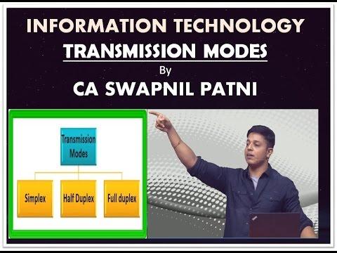 CA IPCC IT  Transmission Modes By CA Swapnil Patni