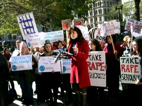 Sonia Ossorio at Take Rape Seriously Rally