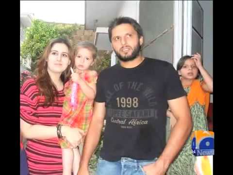 shahid afridi intervewe about wife picture