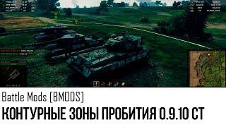 Контурные Зоны Пробития 0.9.10 СТ World of Tanks