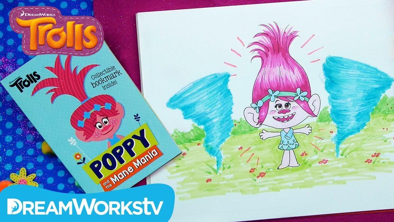 Poppy And The Mane Mania Trolls Presents Draw My Book