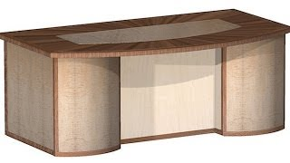 Making A Veneered Executive Desk, Part 1, Thick Veneers: Andrew Pitts ~ Furnituremaker