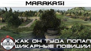 Как он туда попал? Шикарные позиции World of Tanks