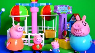 New Full Peppa Pig Episode Daddy Pig Mammy Pig Balloon Ride Toys