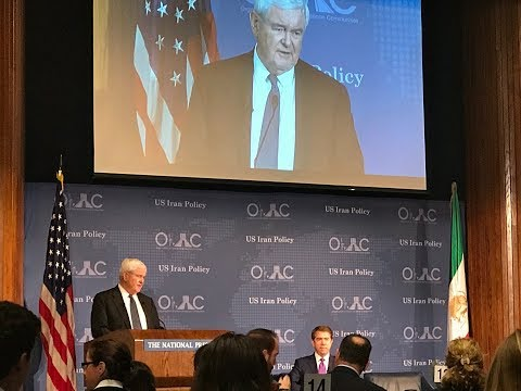 """Hon. Newt  Gingrich on """"The New U.S. Policy on Iran: The Way Forward"""", NPC"""