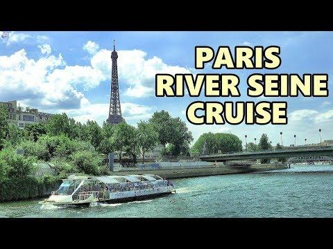 PARIS RIVER CRUISE - SEINE CRUISE 4K