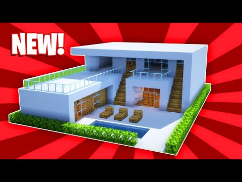 Minecraft : How To Build A Small Modern House Tutorial (#26)