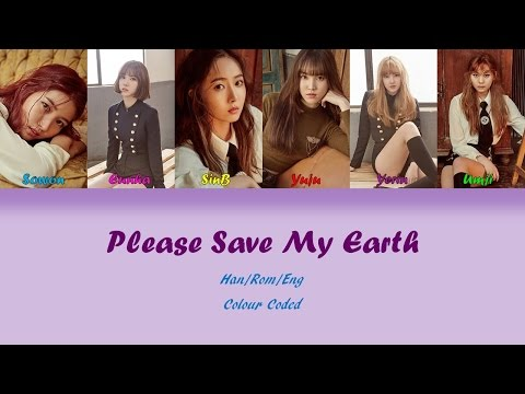 GFRIEND (여자친구) Please Save My Earth Lyrics (Han/Rom/Eng) Colour Coded