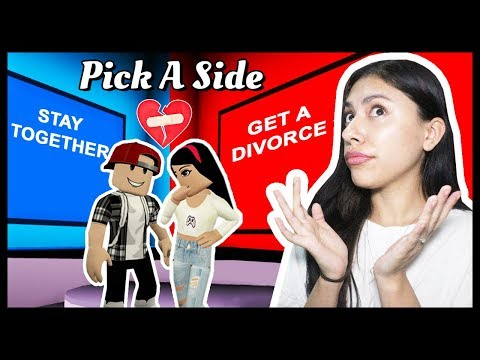 TESTING OUR RELATIONSHIP! IF HE FAILS, WE BREAK UP! - PICK A SIDE IN ROBLOX