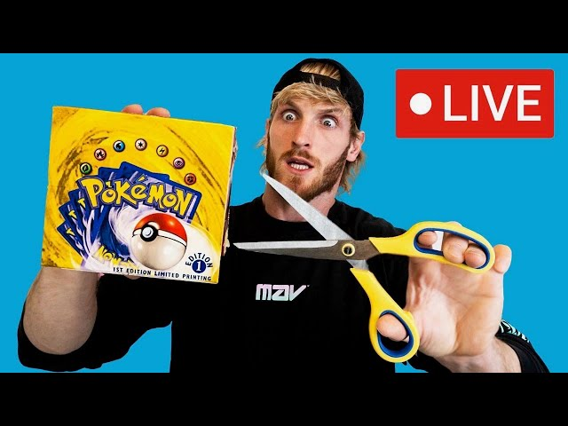 Opening The $1,000,000 1st Edition Pokemon Box (Official Live Stream)