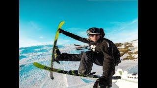 Andri Ragettli freestyle skiing & parkour training 2018