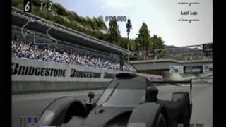 グランツーリスモ・モードでオリジナルコースのトライアルマウンテン。 ...