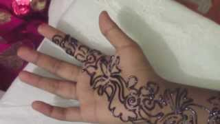 Arabic mehndi (henna) - step by step tutorial - Design 5
