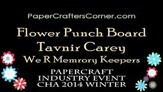 2014 Cha Winter - Flower Punch Board - We R Memory Keepers