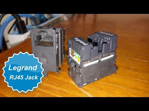 Legrand Rj45 Jack Youtube