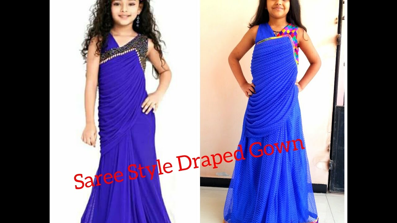 Saree style formal dresses